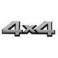 Znak 4x4 Chrom Samolepiaci 3D